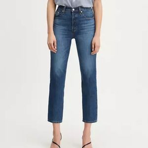 Levi's 501 Original Cropped Straight Leg Jeans 27
